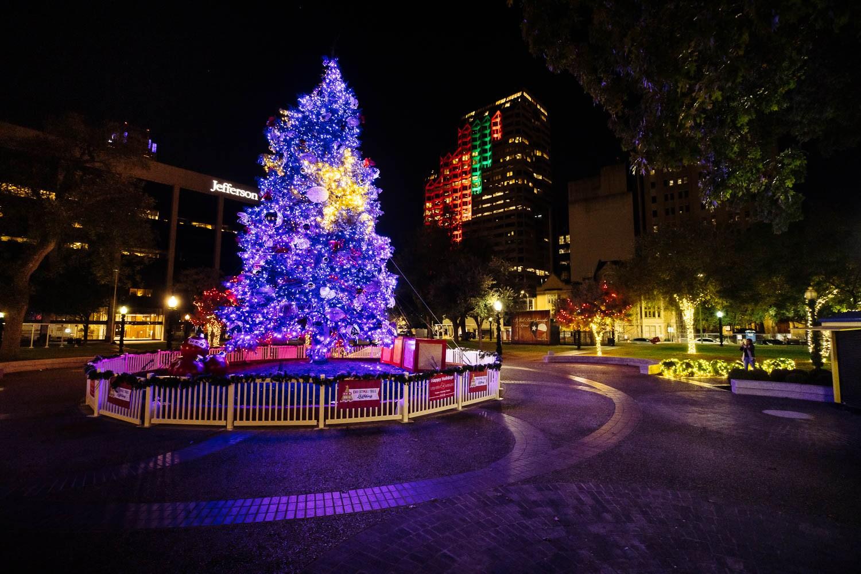Christmas Tree in Travis Park taken Dec. 1, 2020. Photo by Chris Stokes | Heron contributor