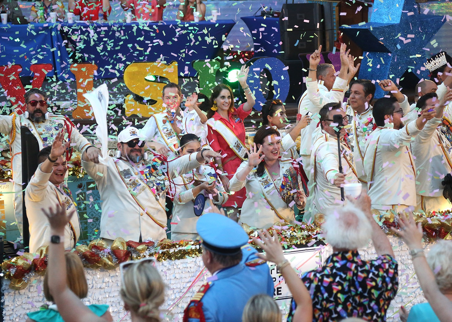 The Texas Cavaliers River Parade was back Monday night, June 21, after being canceled last year due to Covid-19. <em>Photo by Ben Olivo   Heron</em>