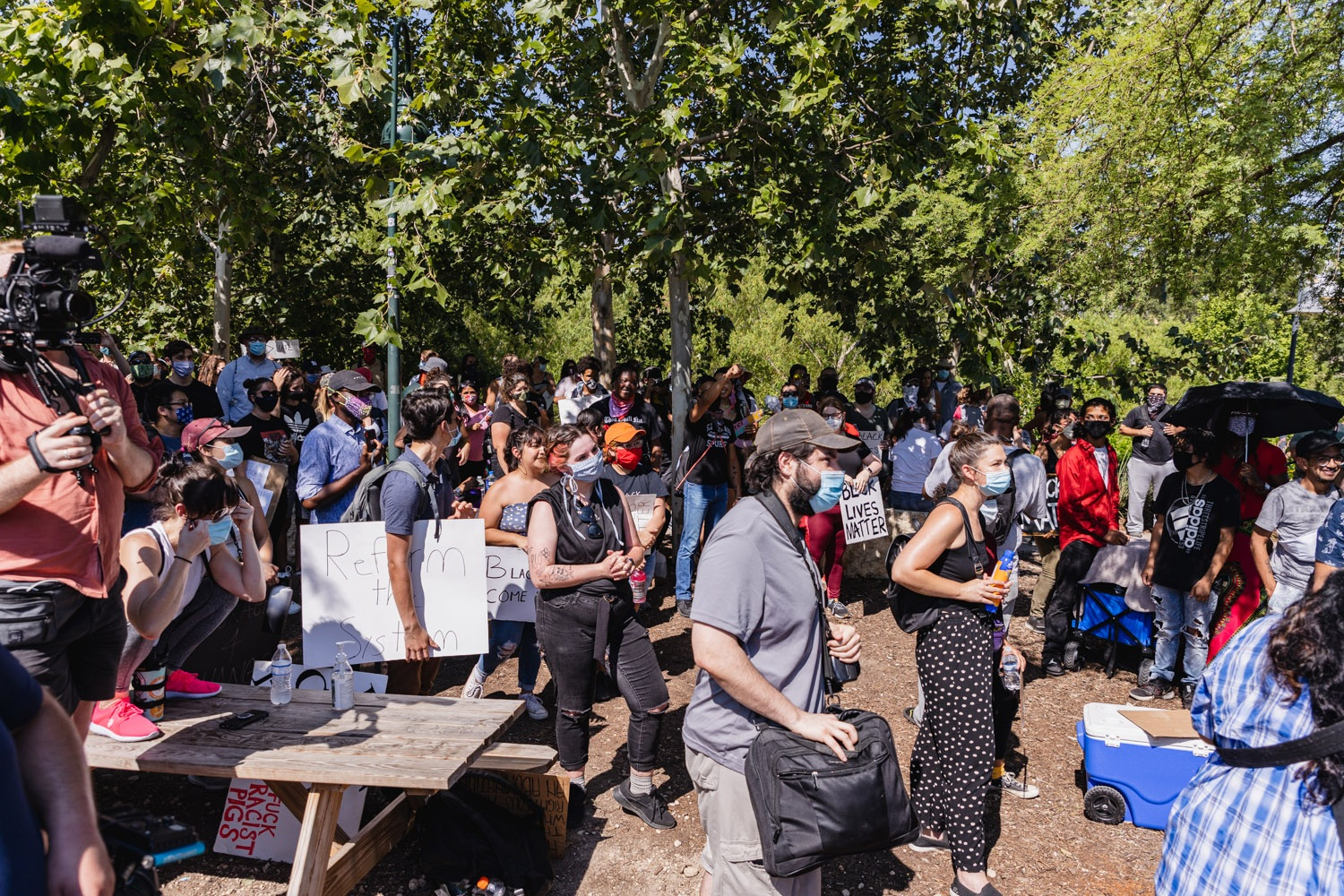 A Black Lives Matter rally takes place Monday, June 8, 2020, at Blue Star Arts Complex. <b>Photo by Isaiah Alonzo | Heron contributor</b>