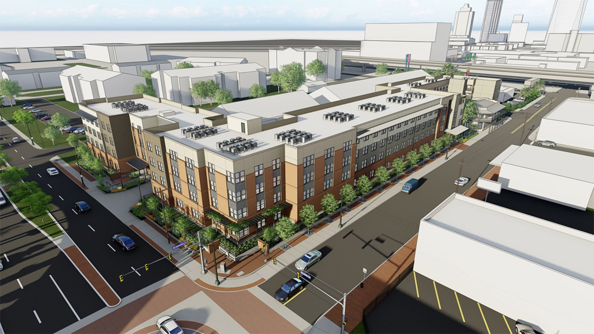 Cattleman Square Lofts is being planned for 811 W. Houston St. June 16, 2021. Courtesy: Alamo Community Group | Sage Group