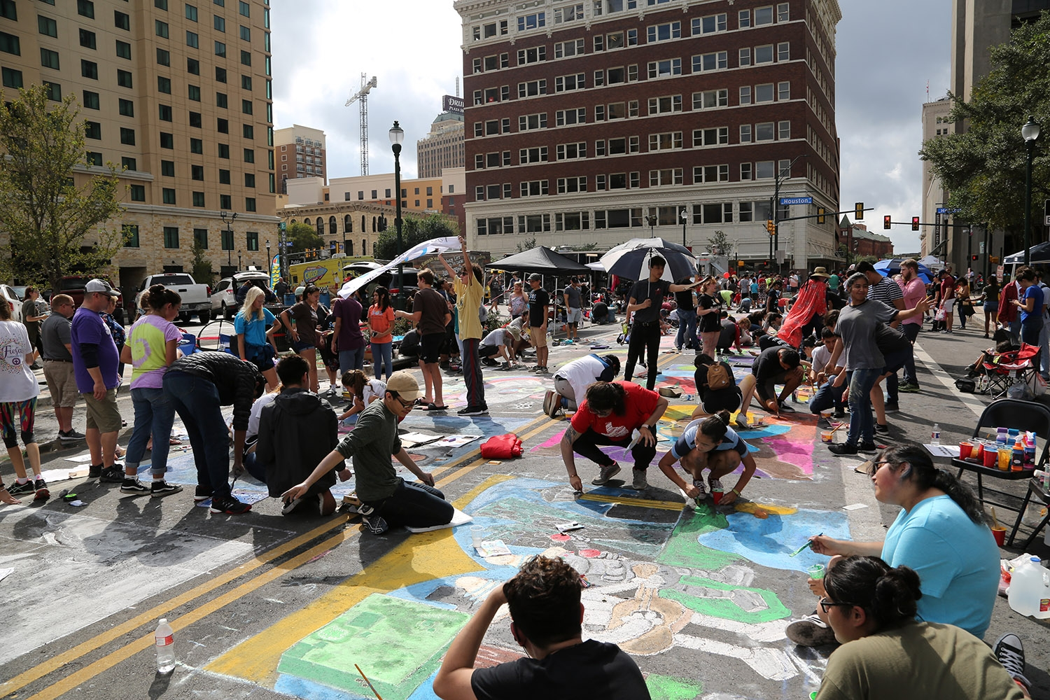 Thousands of artists participate in the 15th annual Chalk It Up on Oct. 13. <em><b>Photo by V. Finster | Heron</b></em>