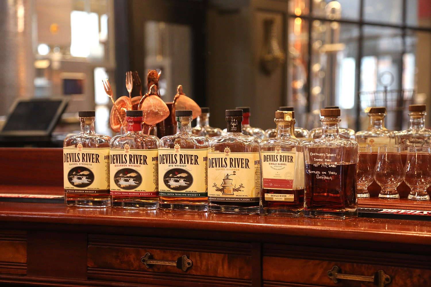 Devils River Whiskey is set to open on March 17, 2021, inside the Burns building at 401 E. Houston St. Photo by Ben Olivo | Heron