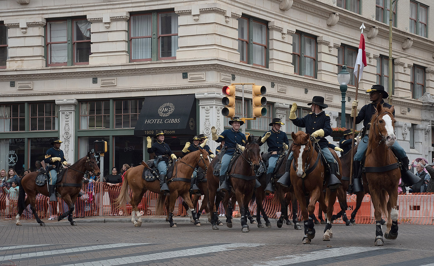 Fort Hood 2st Calvery Division ride their horses during the Western Heritage Parade and Cattle Drive Feb. 2 on S Alamo St. <em><b>V. Finster | Heron</b></em>