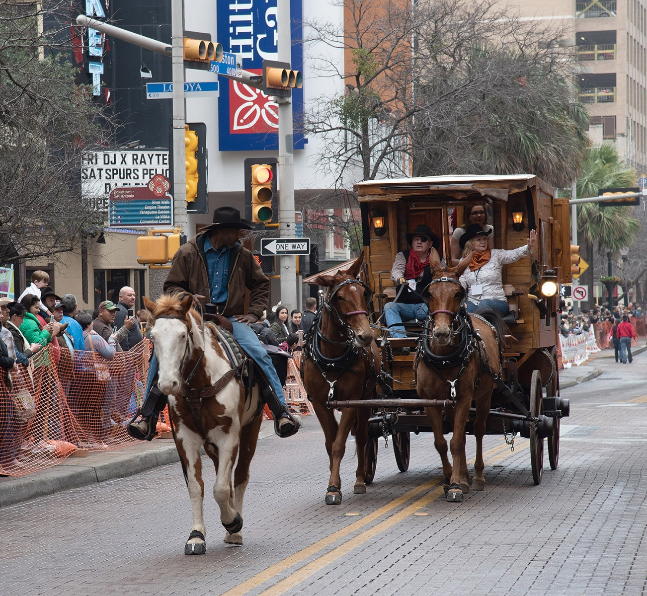 Participants in the Western Heritage Parade and Cattle Drive Feb. 2 on Houston Street. <em><b>V. Finster | Heron</b></em>