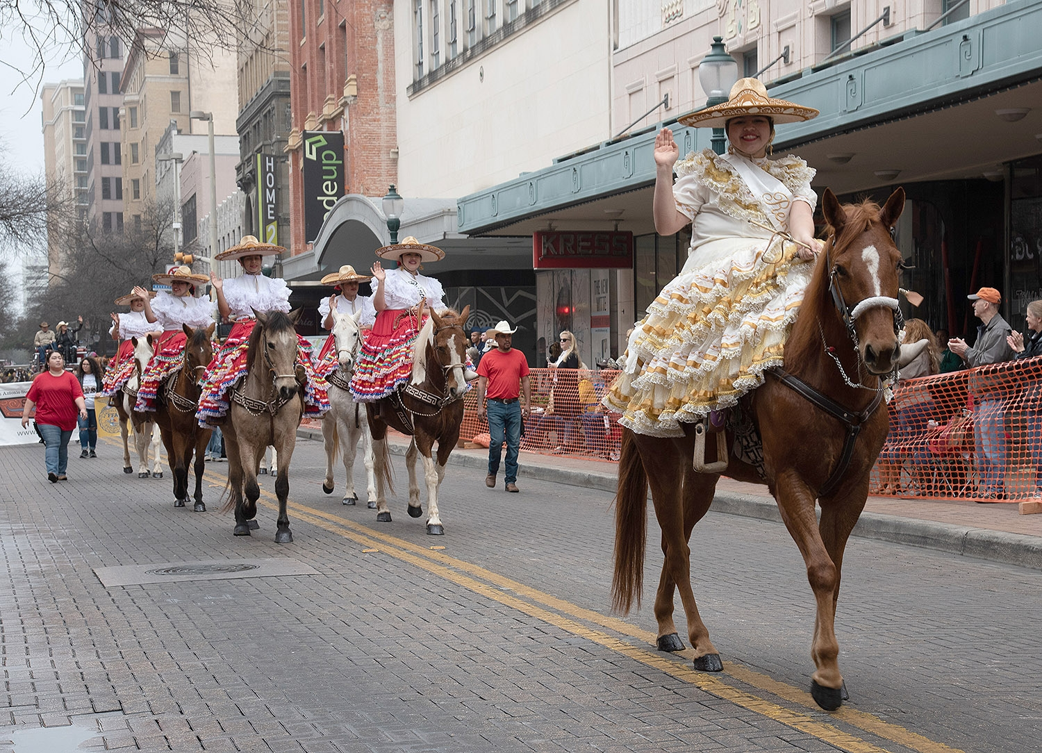 Participants ride their horses down Houston St. during the Western Heritage Parade and Cattle Drive Feb. 2. <em><b>V. Finster | Heron</b></em>