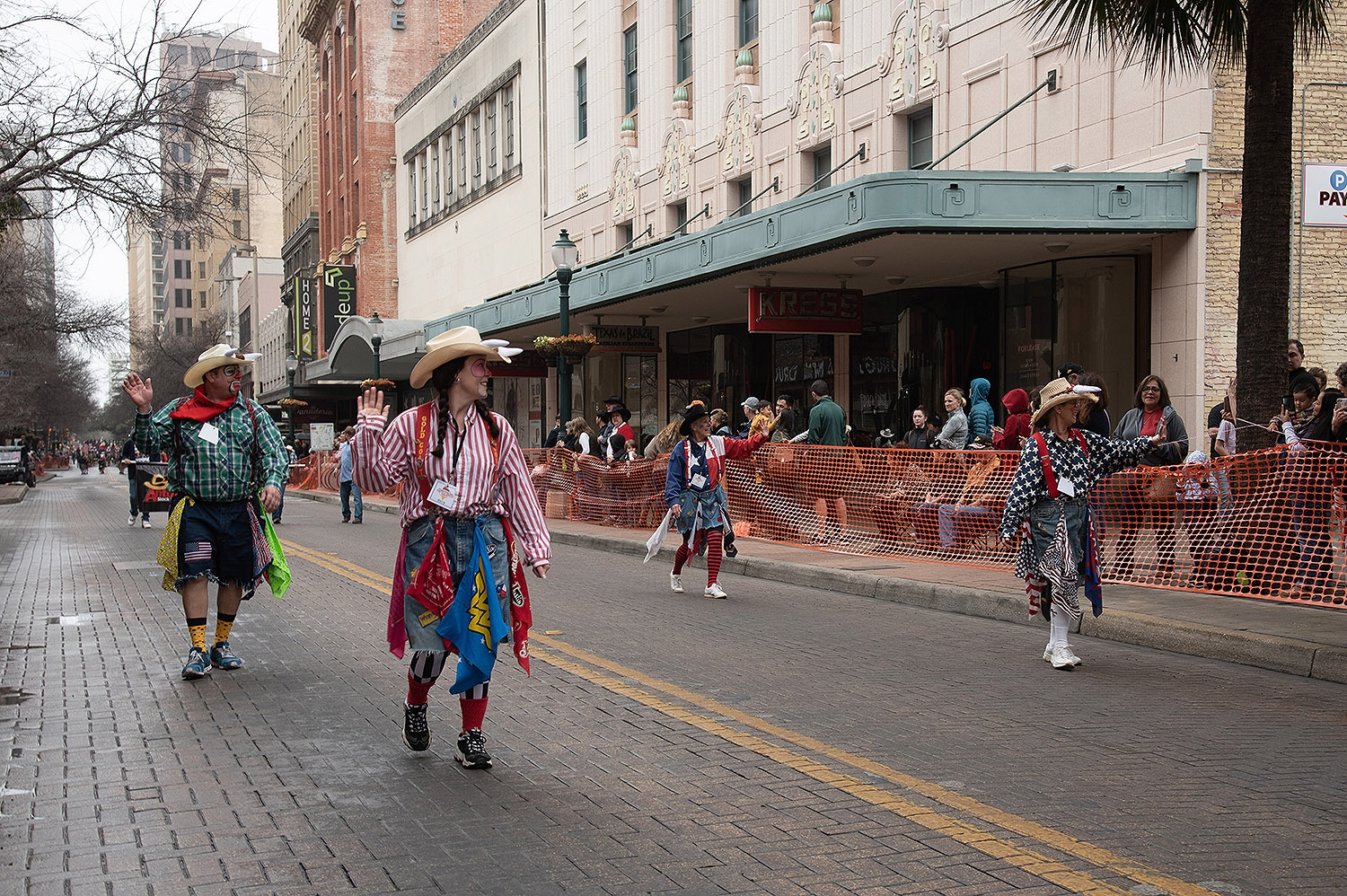 Rodeo Clowns walk down Houston St. during the Western Heritage Parade and Cattle Drive Feb. 2. <em><b>V. Finster | Heron</b></em>
