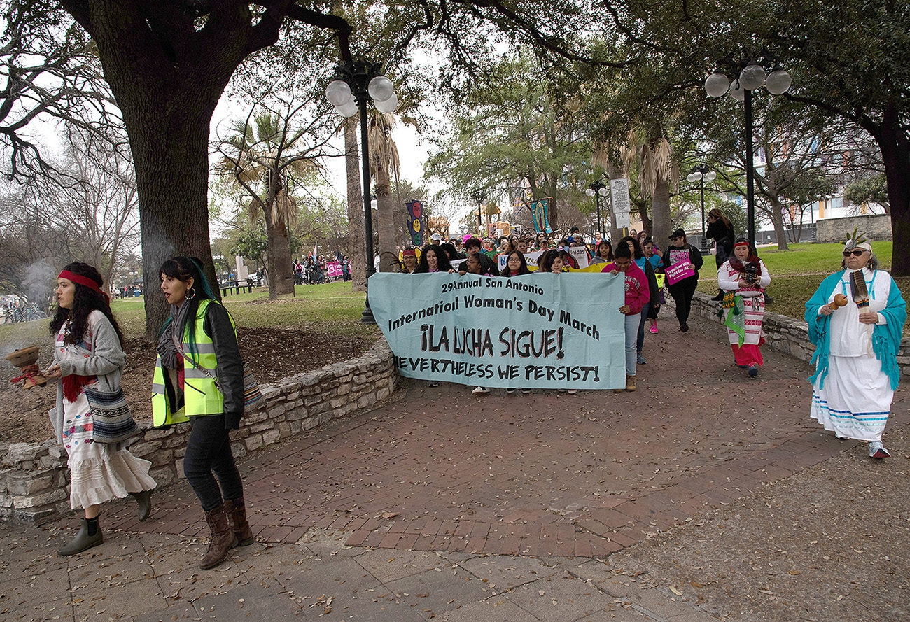 The 29th annual San Antonio International Women's Day March leaves leaves Milam Park on Saturday, March 2. <b><em>Photo by V. Finster | Heron</em></b>