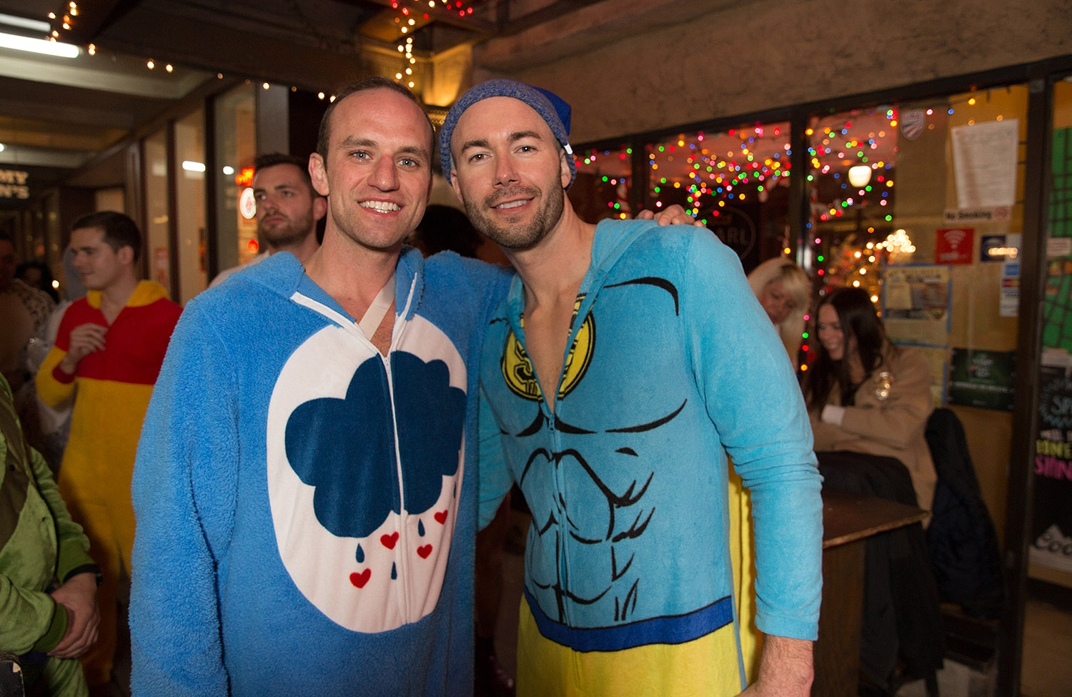 Pub runners have some drinks and bust a few moves during the onesie-themed Pub Run at Moses Rose's Hideout, Jan. 4, 2019. <em><b>Photo by B. Kay Richter   Heron contributor</b></em>