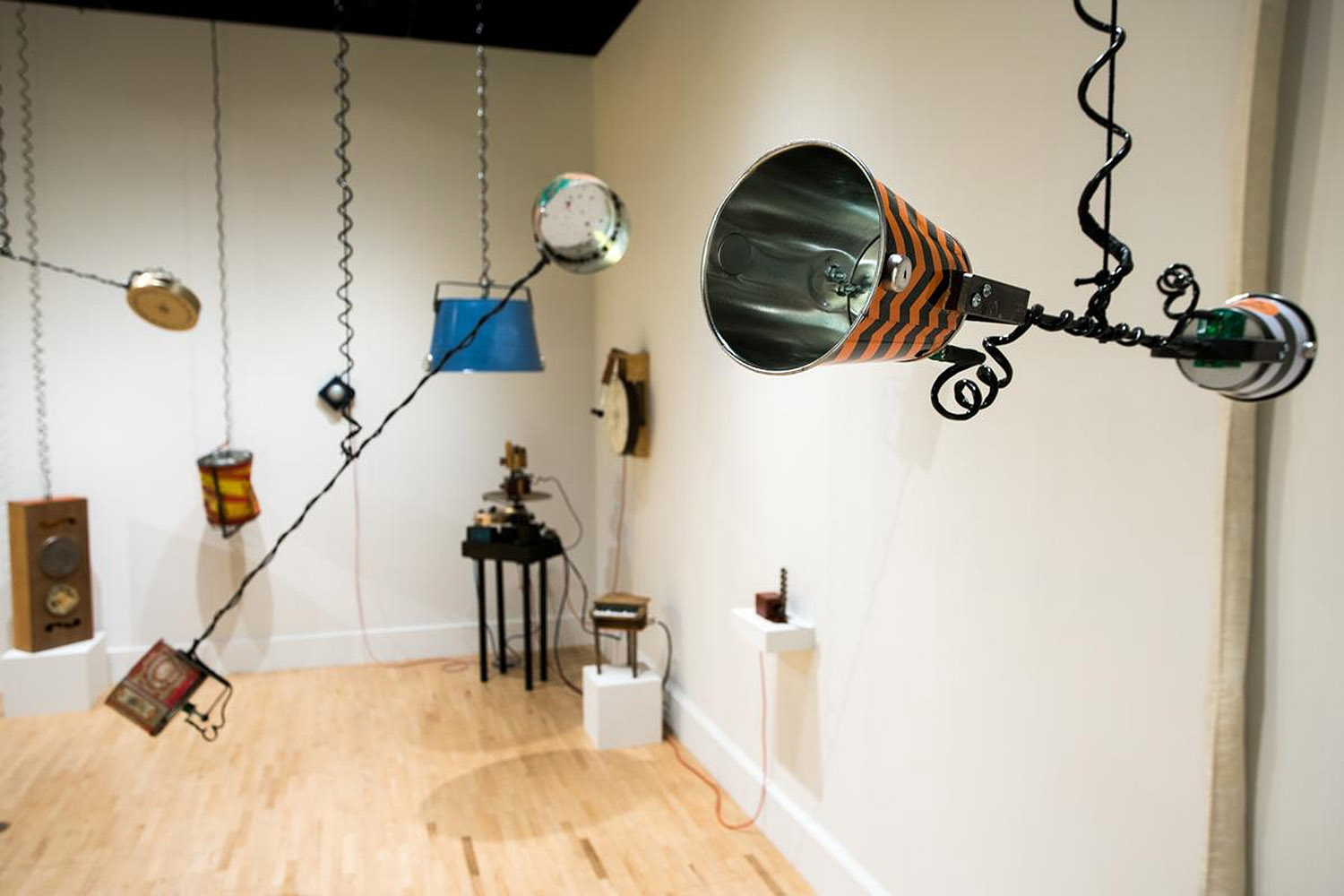 The Magnetosphere by Matthew Steinke is on display at the Kendall College of Art and Design at Ferris State University. <em><b>Photo Courtesy of Matt Gubancsik</b></em>