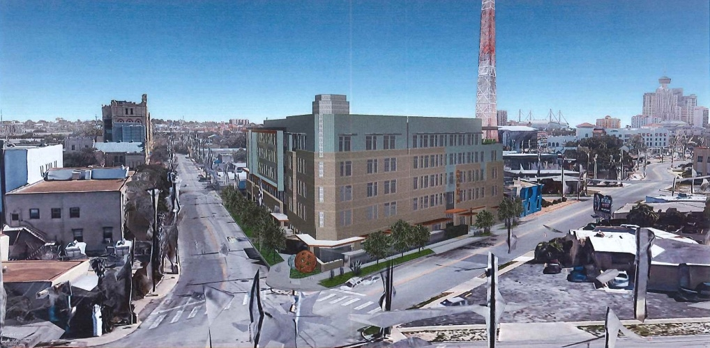 The design for the Museum Reach Lofts as of Feb. 20, 2019. <em><b>Courtesy GRG Architecture</b></em>