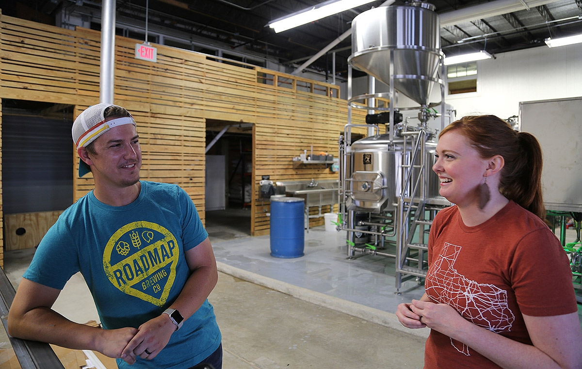 Dustin and Hannah Baker are the owners of Roadmap Brewing Co. <em><b>Photo by Ben Olivo | Heron</b></em>