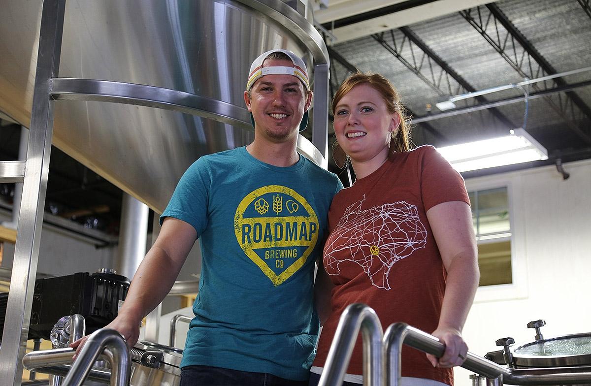 Dustin and Hannah Baker own Roadmap Brewing Co. <em><b>Photo by Ben Olivo | Heron</b></em>