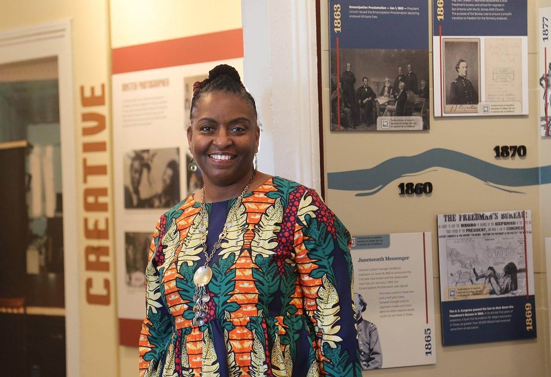 Deborah Omowale Jarmon is the executive director of the San Antonio African American Community Archive and Museum, 218 S. Presa St., in La Villita. Photo by Ben Olivo   Heron