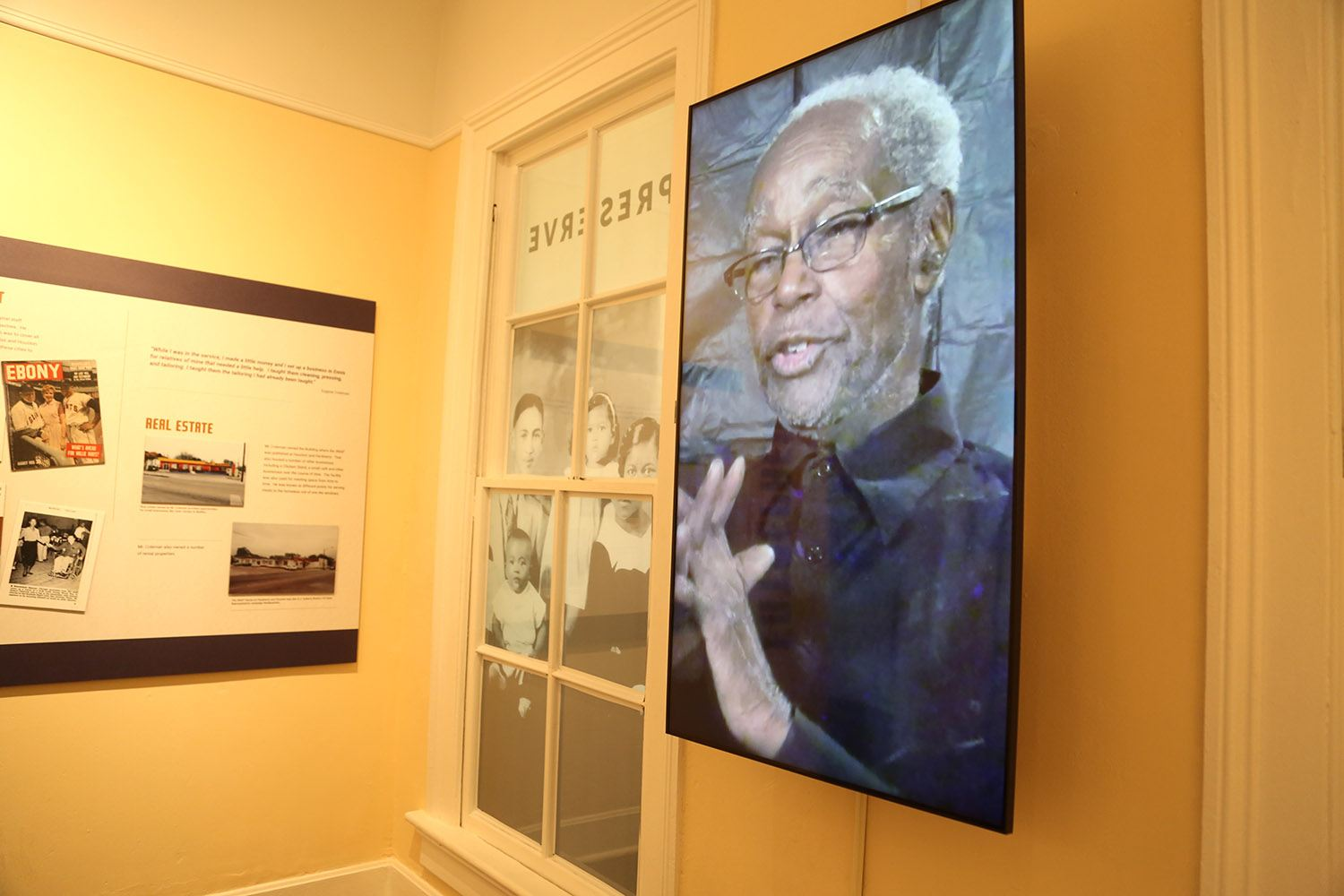 San Antonio photographer and civil rights advocate Eugene Coleman is the focus of an exhibit at the San Antonio African American Community Archive and Museum at La Villita. Photo by Ben Olivo   Heron