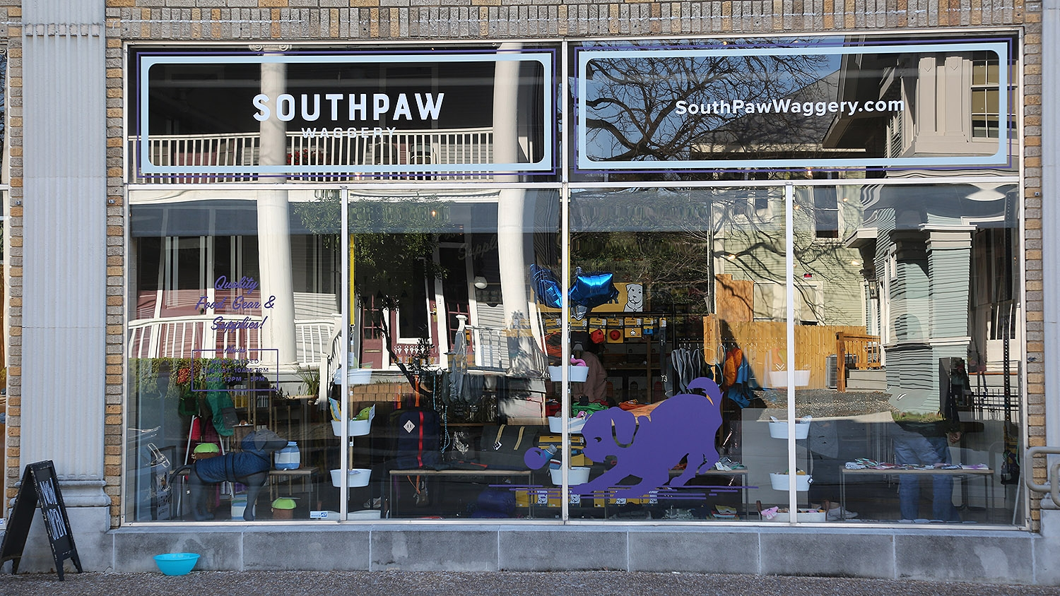 SouthPaw Waggery is located at the Cadillac Lofts building, 317 Lexington Ave., Suite 4. <b><em>Photo by Ben Olivo | Heron</em></b>