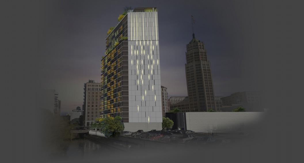 JMJ Development is proposing this 24-story residential tower at 112 Villita St. Courtesy JMJ Development