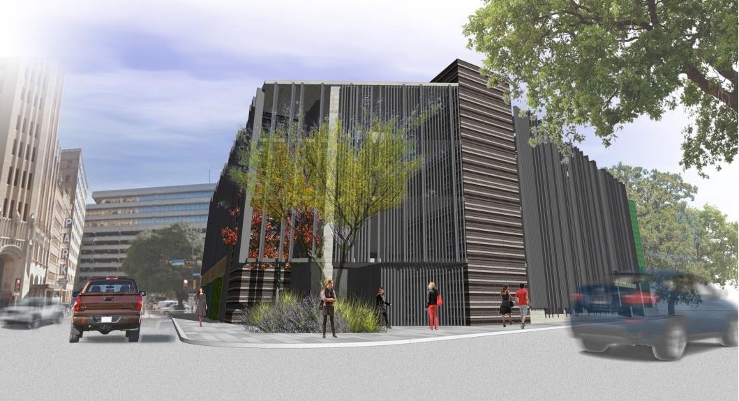 JMJ Development is planning a five-story parking garage at 126 Villita St. Courtesy JMJ Development