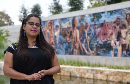 The artist behind the San Pedro Creek mural