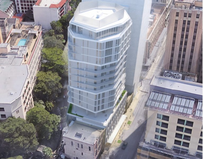 The Floodgate apartment tower by developer Keller Henderson is proposed for 143 E. Commerce St.