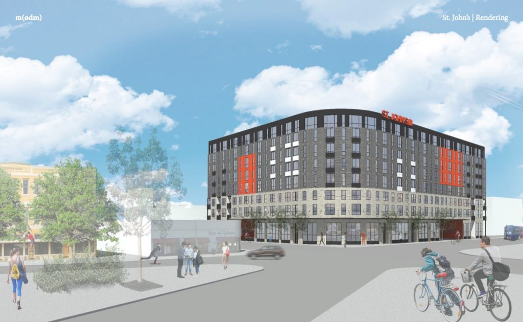 The Eight Story 250 Unit St John S Square Development Is Being Proposed For Southeast Corner Of Mary And Nueva Streets