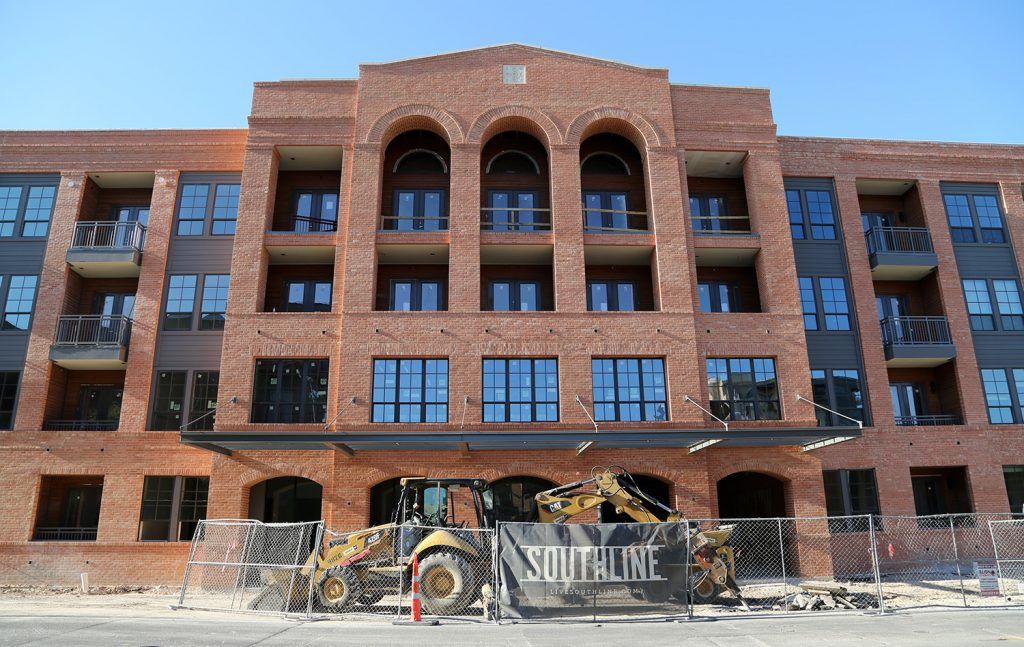 The Southline, the Pearl's latest development, is scheduled to open in November. The $40 million project at 226 Newell Ave. will consist of 223 apartment units. Photo taken Sept. 17, 2019. Photo by Ben Olivo | Heron
