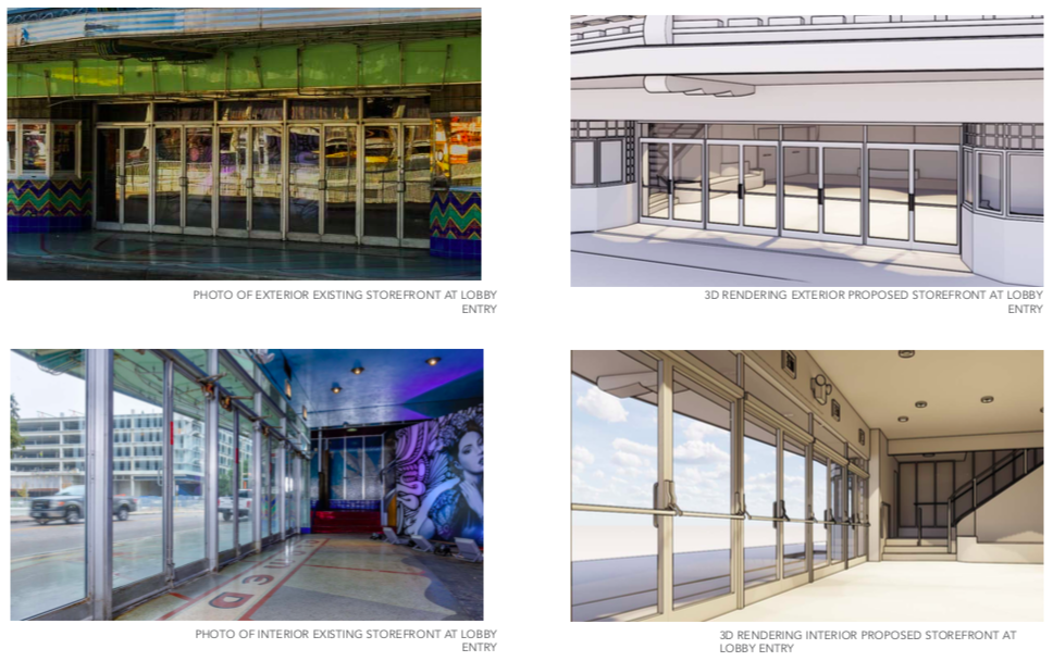 Renderings of the Alameda Theater presented to the HDRC on Oct. 2, 2019. Courtesy OTJ Architects