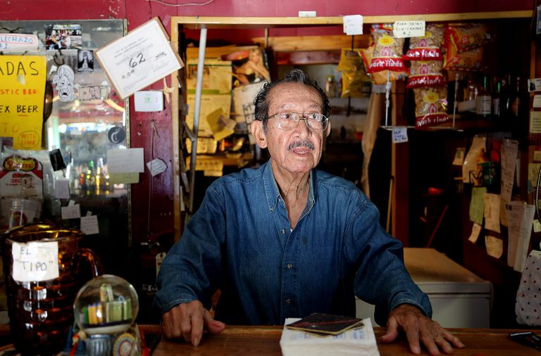 Tony Lopez, 79, in his bar on Monday, Oct. 21, 2019. Tony's Bar, 602 Brooklyn Ave., will be closing for good on Friday, Oct. 25. Photo by Ben Olivo | Heron