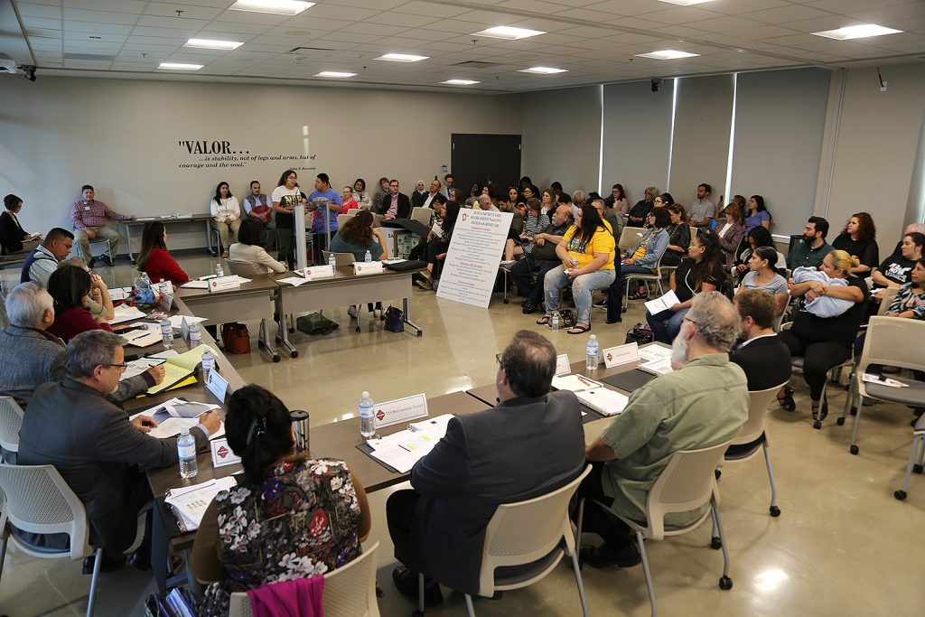 The Housing Commission convenes at San Antonio College on Wednesday, Nov. 10, 2019. Photo by Ben Olivo | Heron