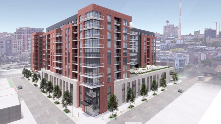 A 10-story mixed-use project by Sabot Development of Austin will include 325 apartments, 400 parking spaces and 14,000 square feet of retail space. Courtesy Sabot Development