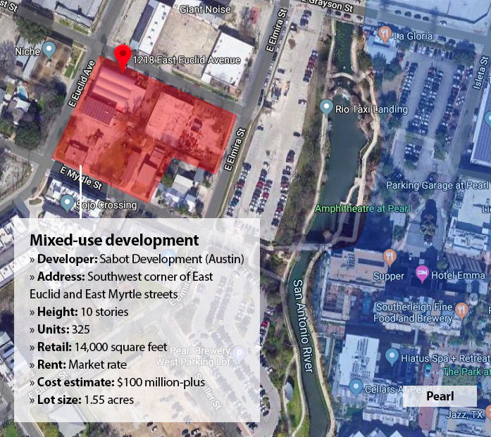 Sabot Development project map west of the Pearl.