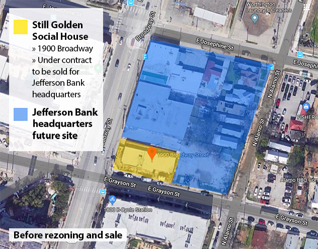 Still Golden Social House Jefferson Bank Map December 2019 Before rezoning and sale