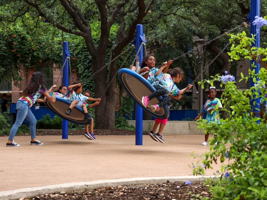 Children play at Yanaguana Garden at Hemisfair in 2019. Photo by Jullien Uriegas | Heron