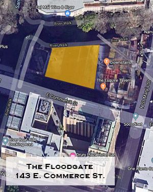 The Floodgate locator map, 143 E. Commerce St.