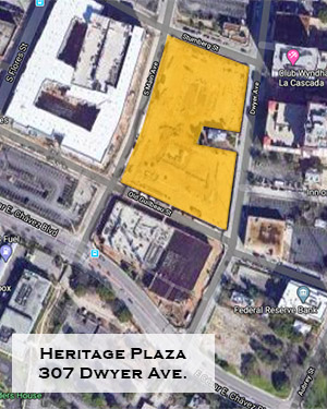 Heritage Plaza locator map, 410 S. Main Ave.