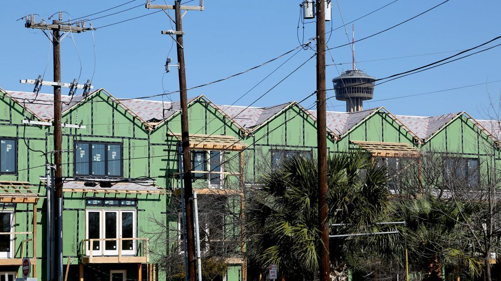 The twelve26 townhome project is under construction at 1226 S. Presa St. in Southtown.