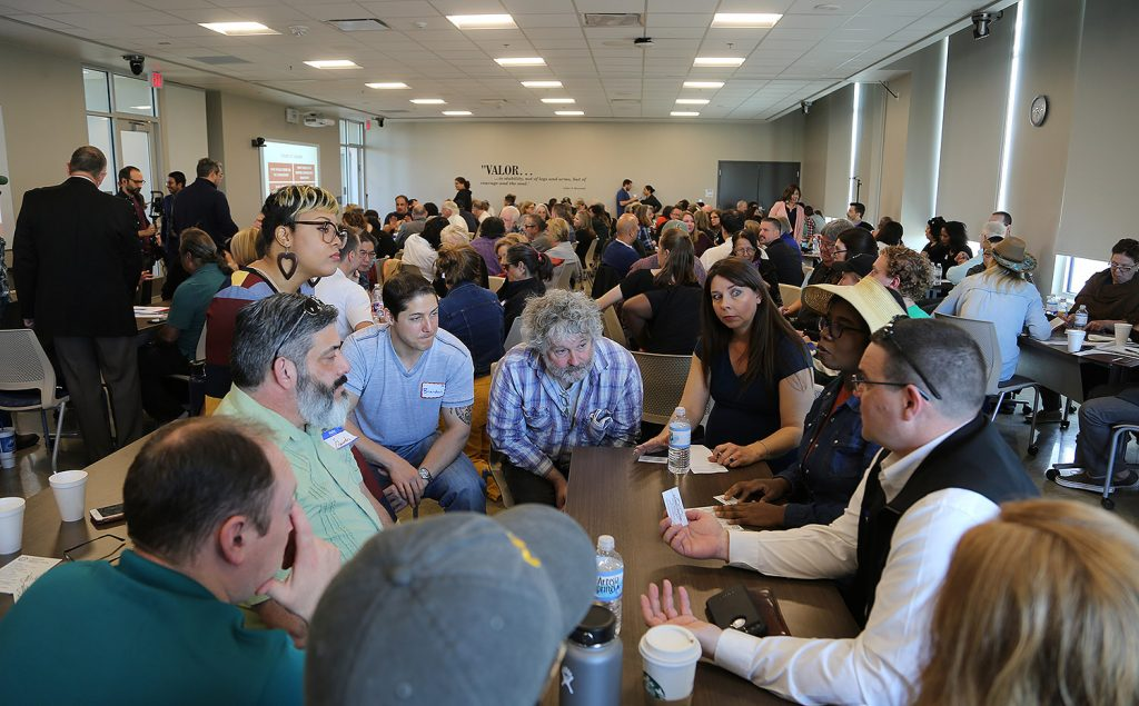 Roughly 200 people attended a town hall on the possibility of a renters commission, which is being proposed by District 1 Councilman Roberto Treviño, Saturday, Feb. 29, 2020, at San Antonio College.