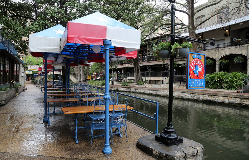 Republic of Texas Restaurant on the River Walk on Friday, March 20, 2020. Photo by Ben Olivo | Heron