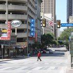 Commerce Street is nearly empty amid coronavirus on Tuesday, March 24, 2020.