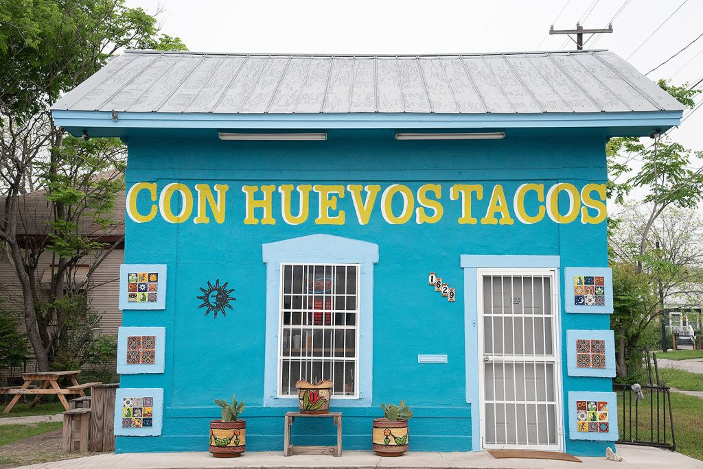Con Huevos Tacos March 26 at 1629 E. Houston St.  Photo by V. Finster | Heron Contributor