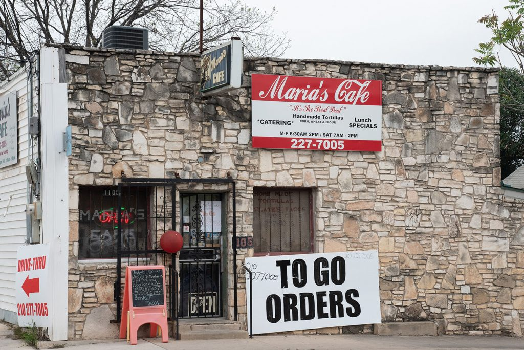 The exterior of Maria's Cafe March 26, at 1105 Nogalitos. Photo by V. Finster | Heron Contributor