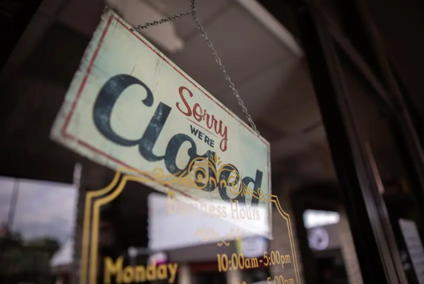The Parlour Salon in San Marcos is closed during the COVID-19 pandemic. Photo credit: Eddie Gaspar/The Texas Tribune