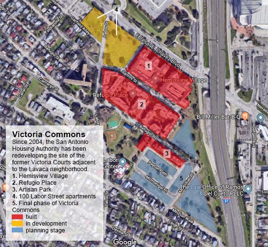victoria commons site map
