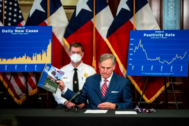Gov. Greg Abbott at a press conference at the state Capitol in Austin on Monday, June 22, 2020.