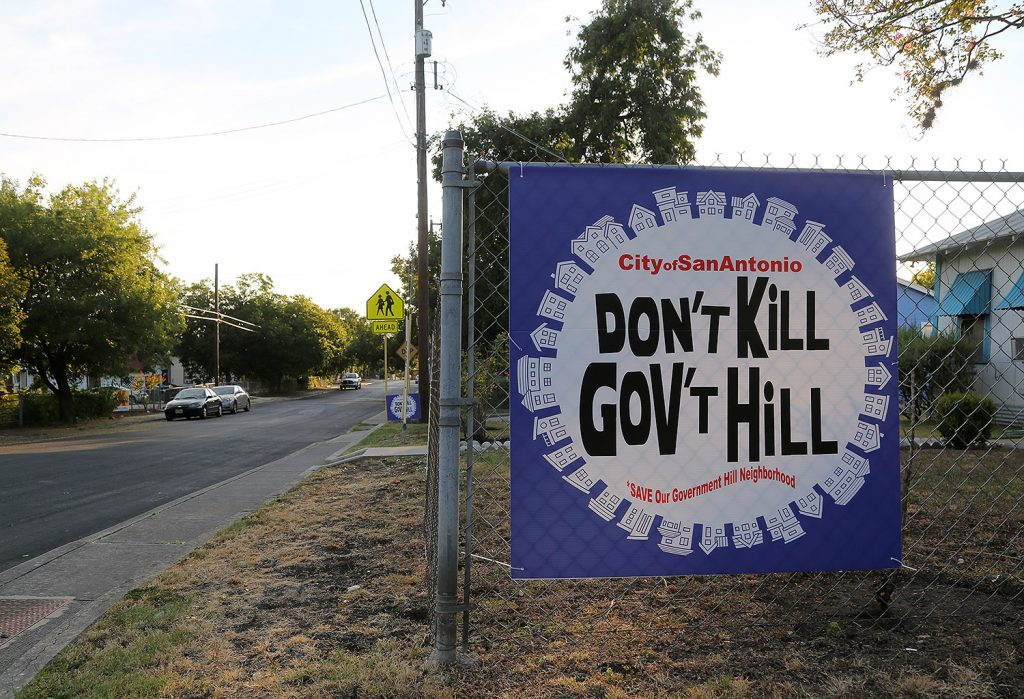 This protest sign faces Edgar Avenue in Government Hill. Photo taken July 21, 2020.