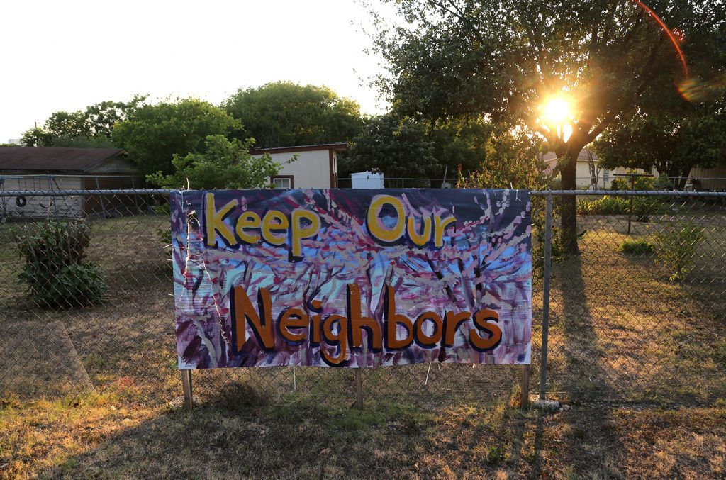 This protest sign is seen on Edgar Avenue in Government Hill. Photo taken July 21, 2020.