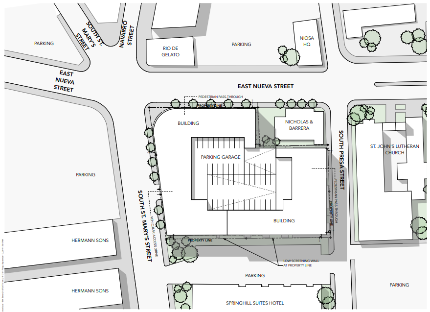 St. John's Square's site map.