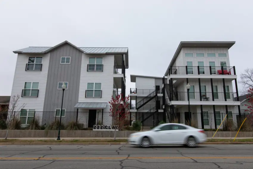 An apartment complex near downtown Waco. Gov. Greg Abbott announced Friday that he was dedicating $171 million in federal coronavirus relief money to helping renters avoid evictions.