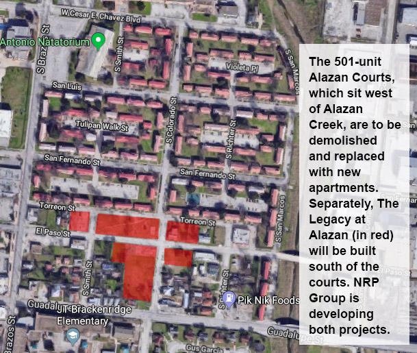 Alazan Lofts footprint map San Antonio Texas