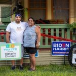 When Rubi and Charlie Lopez stand in front of their West Side home on Monterey Street, which they purchased in 2018, in San Antonio Texas.