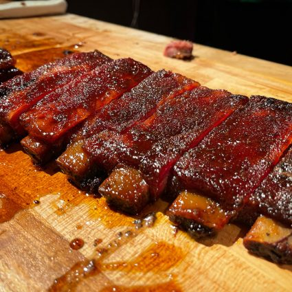 Pinkerton's candied pork ribs.